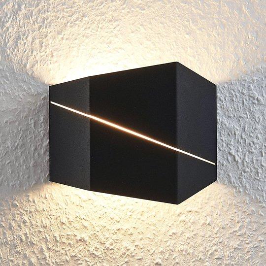 LED-seinävalaisin Nikolae, 18 cm, musta
