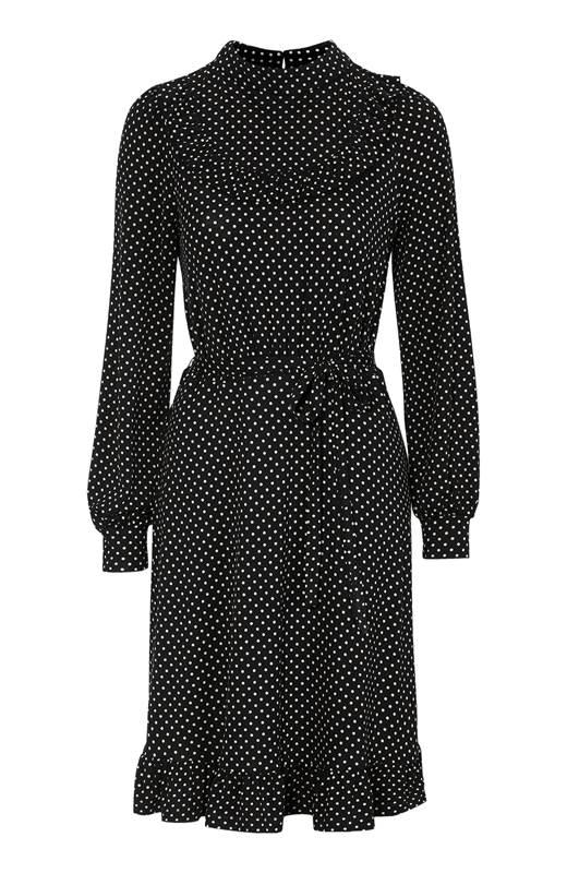 Happy Holly Jerseyklänning Miranda Svart Prickig