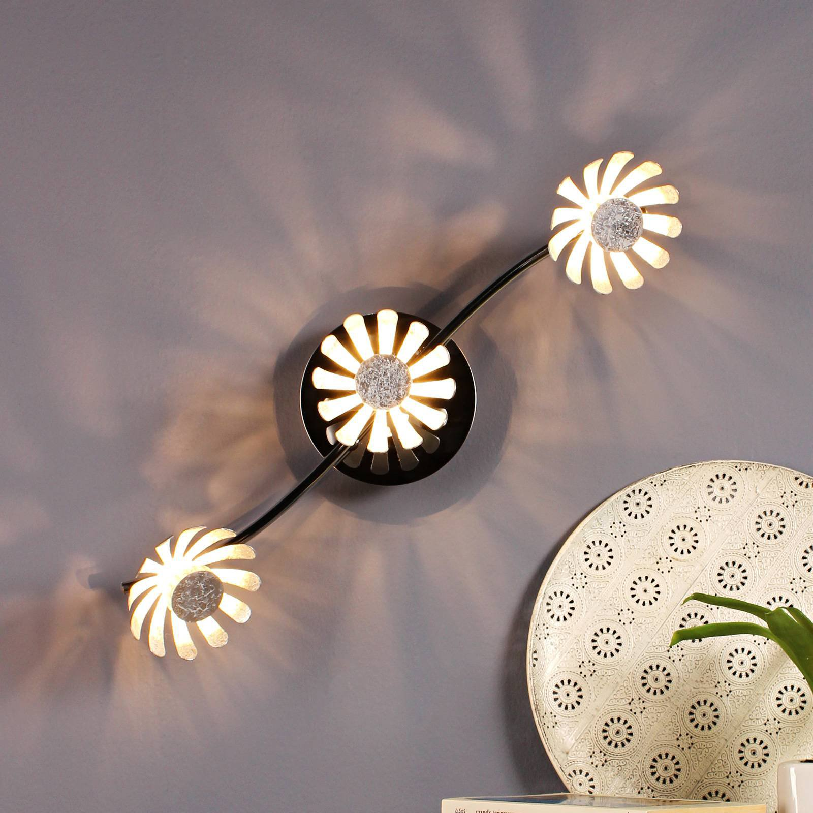 LED-taklampe Bloom 3 lyskilder sølv