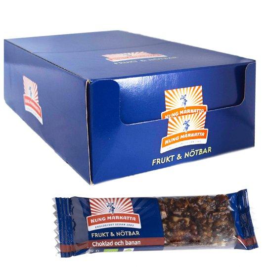 Eko Hel Låda Frukt- & Nötbar Choklad & Banan 20 x 40g - 64% rabatt