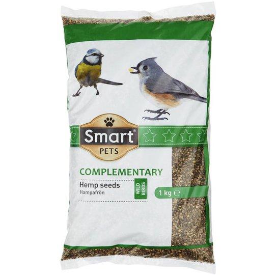 Fågelfoder Hampafrön 1kg - -102% rabatt