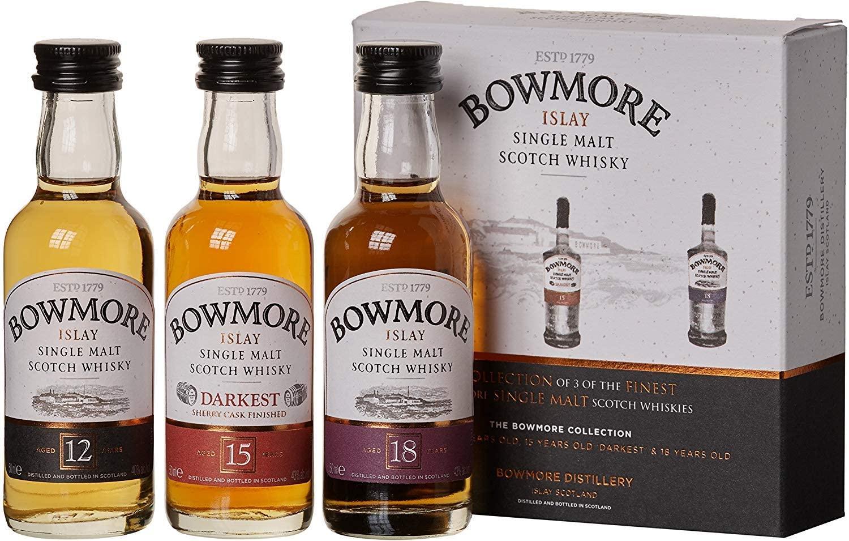 Bowmore Single Malt Whisky Miniature Gift Set 3x5cl