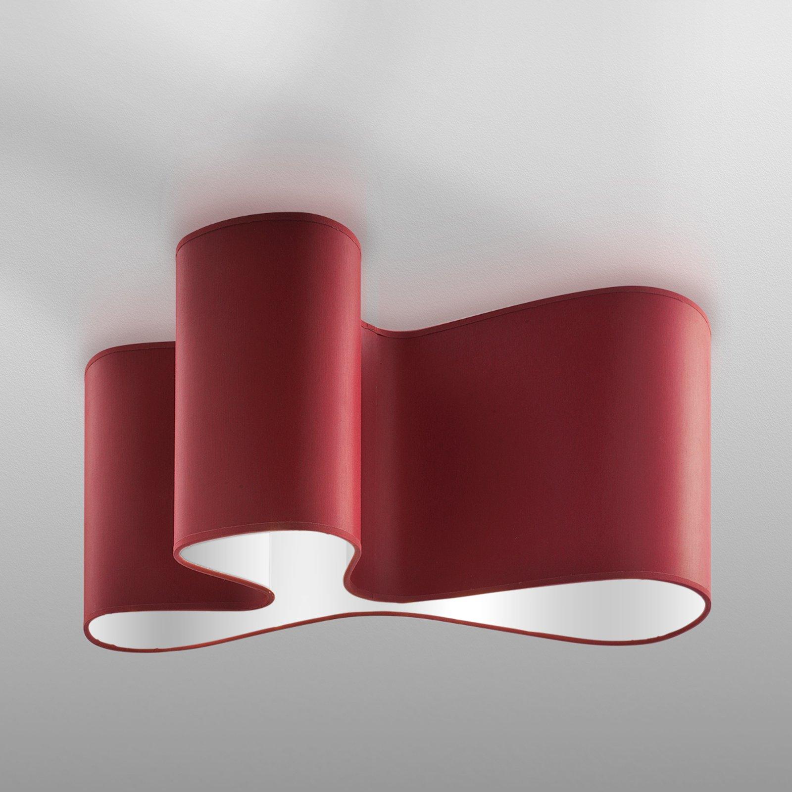 Attraktiv designtaklampe Mugello, rød/hvit