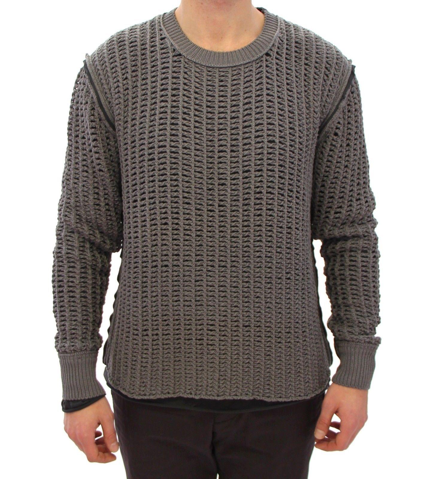 Dolce & Gabbana Men's Runway Netz Pullover Netted Sweater Gray GTH10683 - IT48 | M