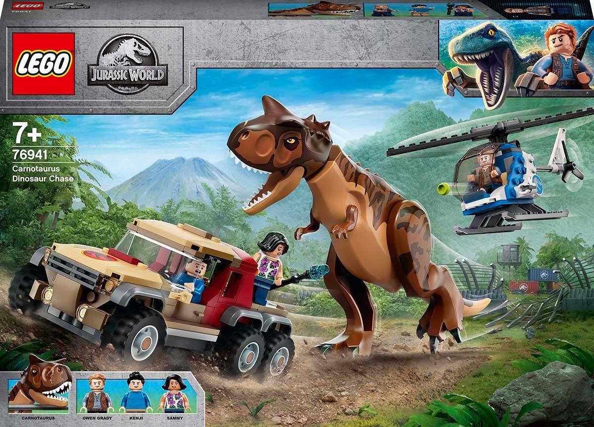 LEGO Jurassic World 76941 Carnotaurus-dinosauruksen Takaa-ajo