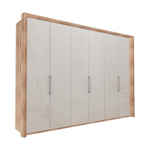 Garderobe Atlanta - Lys rustikk eik 300 cm, 236 cm, Med ramme