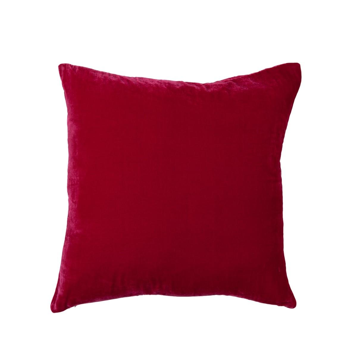 William Yeoward |Paddy Velvet Cushion Raspberry