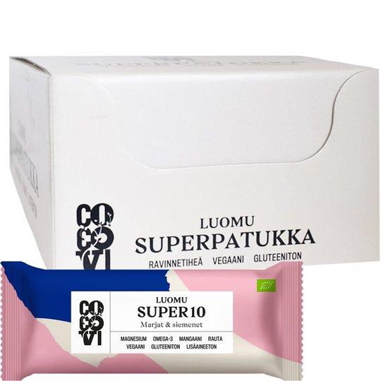 """Eko Hel Låda Nöt- & Bärbars """"Super10"""" 16 x 40g - 75% rabatt"""