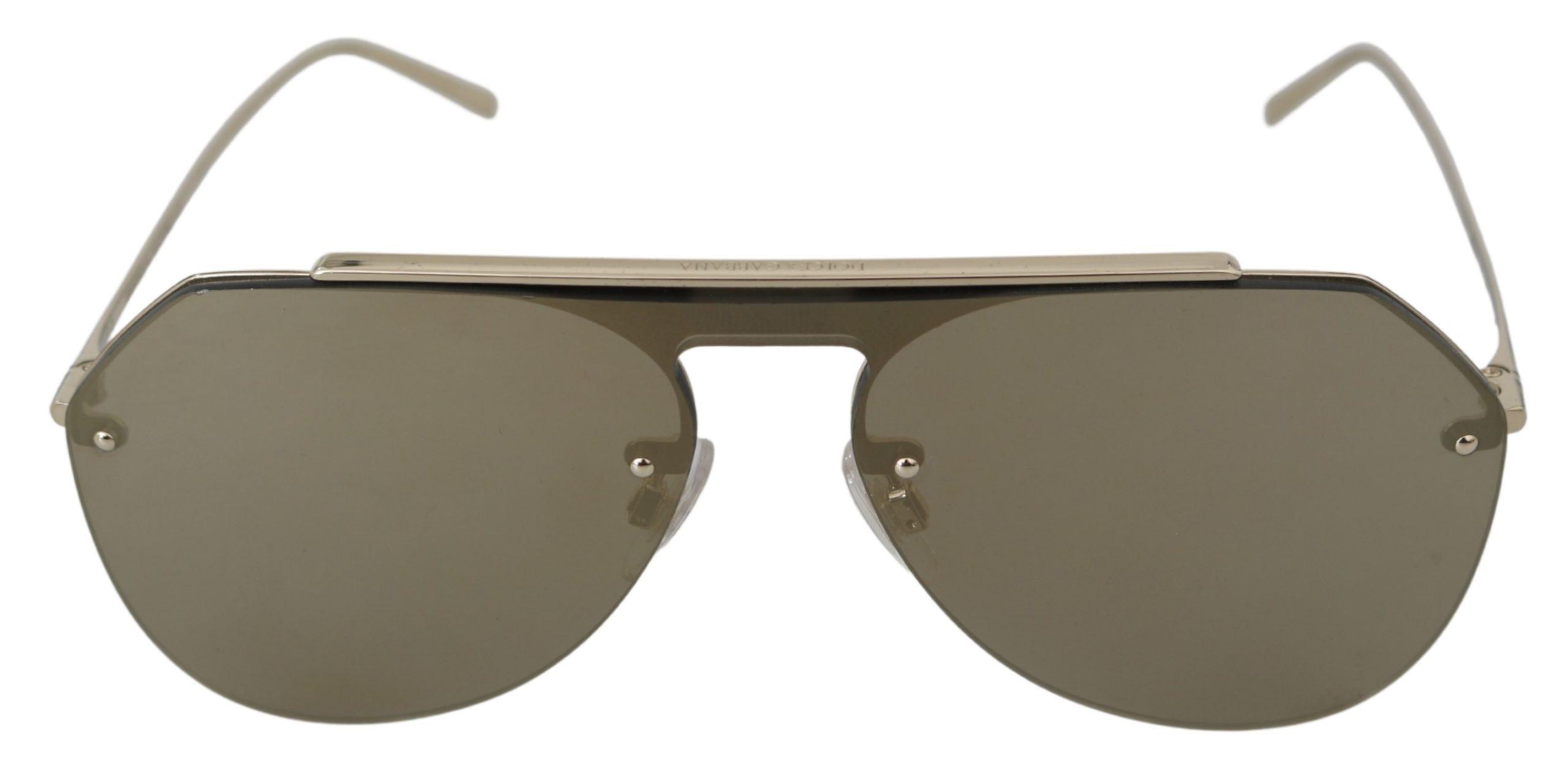 Dolce & Gabbana Women's Lenses Pilot Aviator Sunglasses Gray GLA767