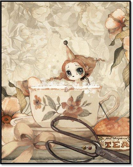 Mrs Mighetto Plakat The Tea Bath 40x50