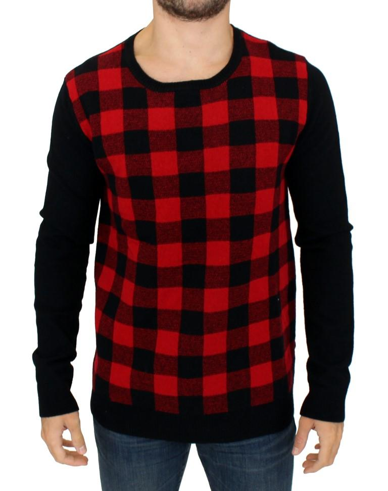 Costume National Men's Checkered Sweater Red SIG10523 - IT52 | XL