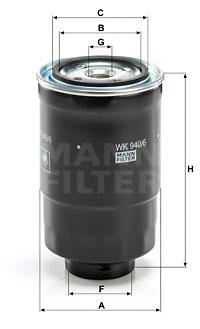 Polttoainesuodatin MANN-FILTER WK 940/6 x