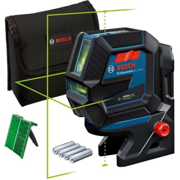 Bosch GCL 2-50/RM10 Kombilaser grønn, med batterier