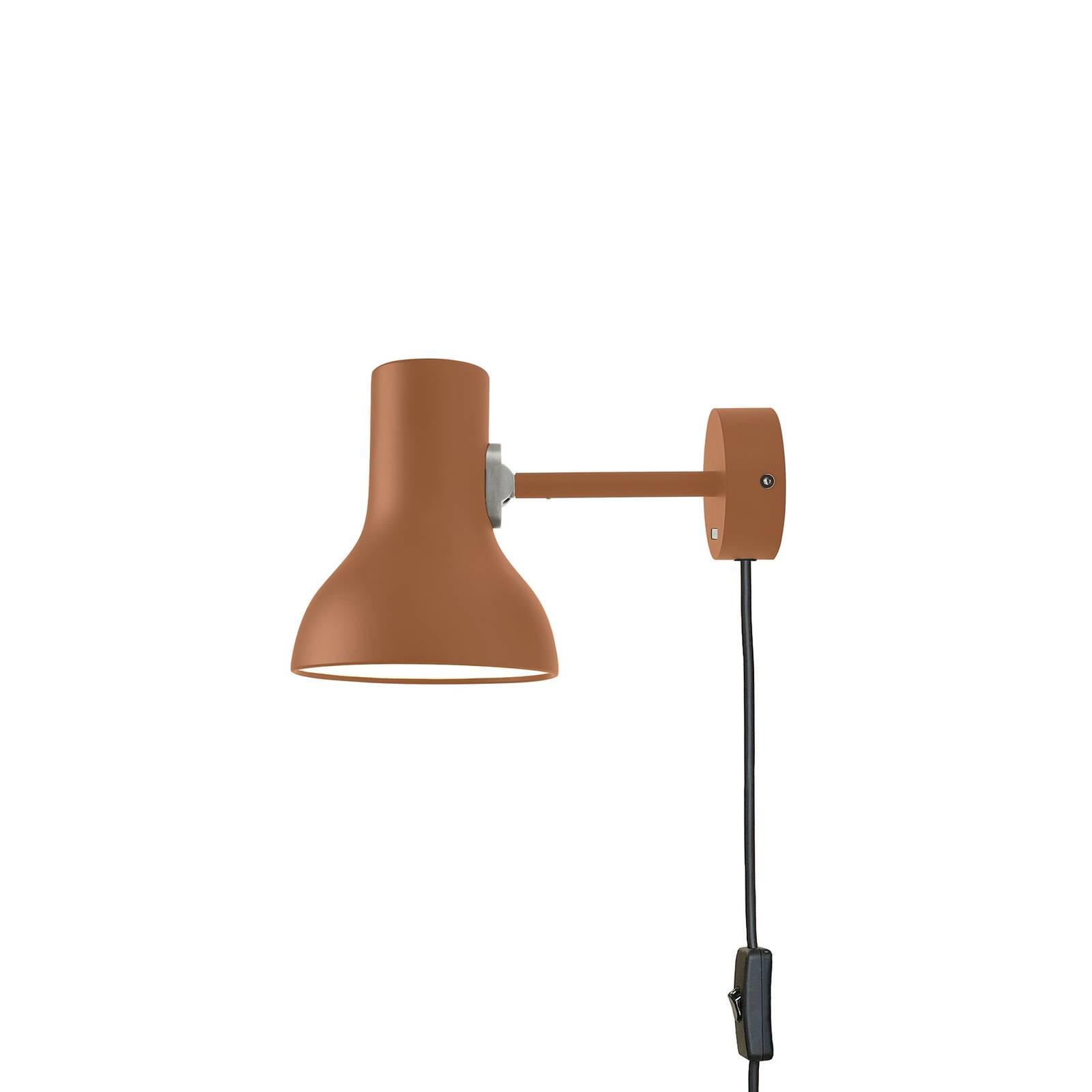 Anglepoise Type 75 Mini -seinälamppu, ruskea