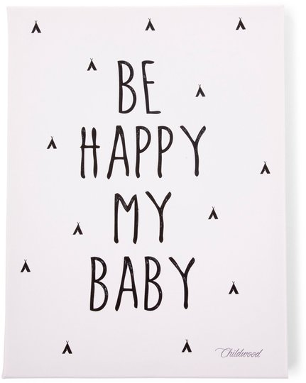 Childhome Plakat Be My Happy Baby 30x40