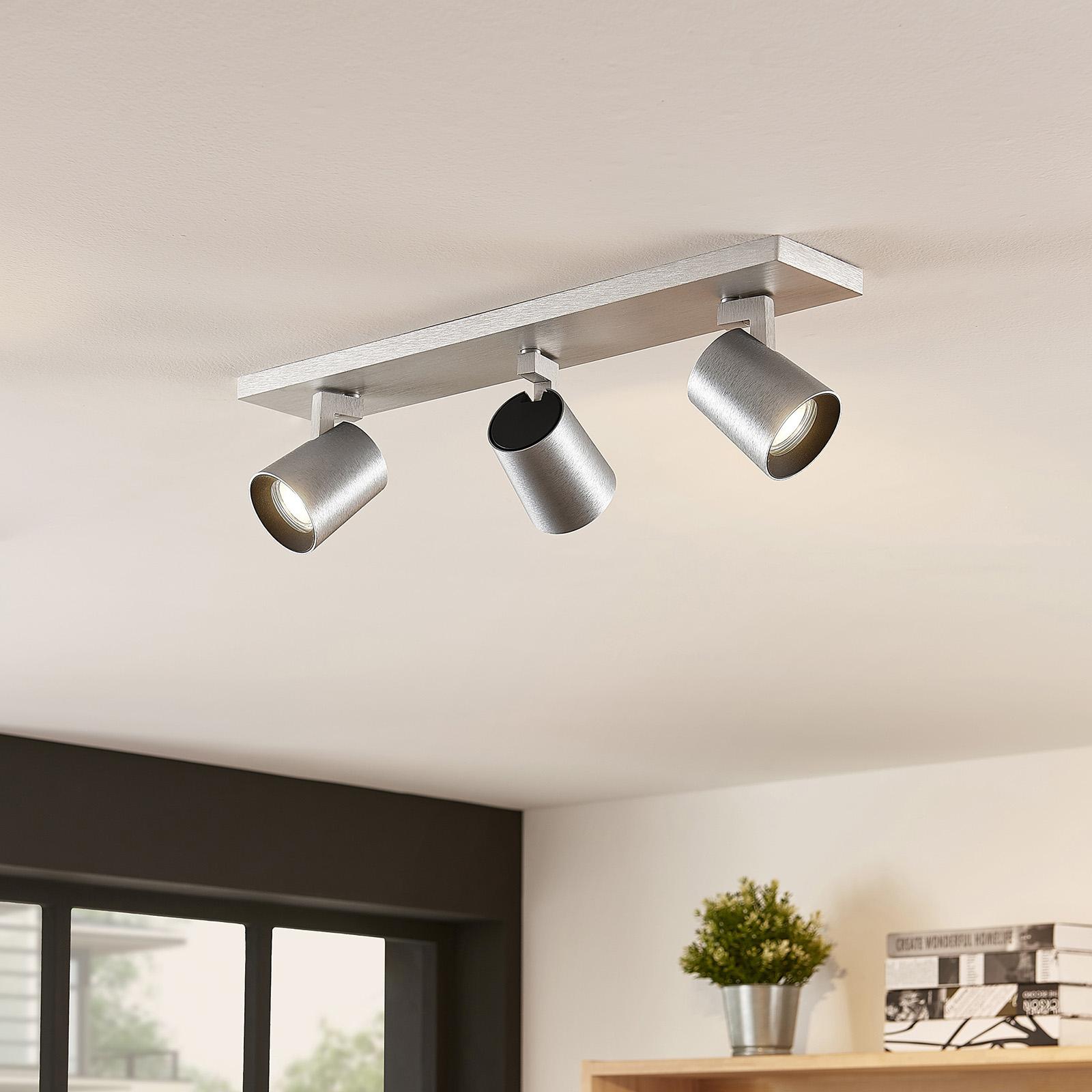 Arcchio Iavo-spotti, kulmikas, alumiini, 3 lamppua
