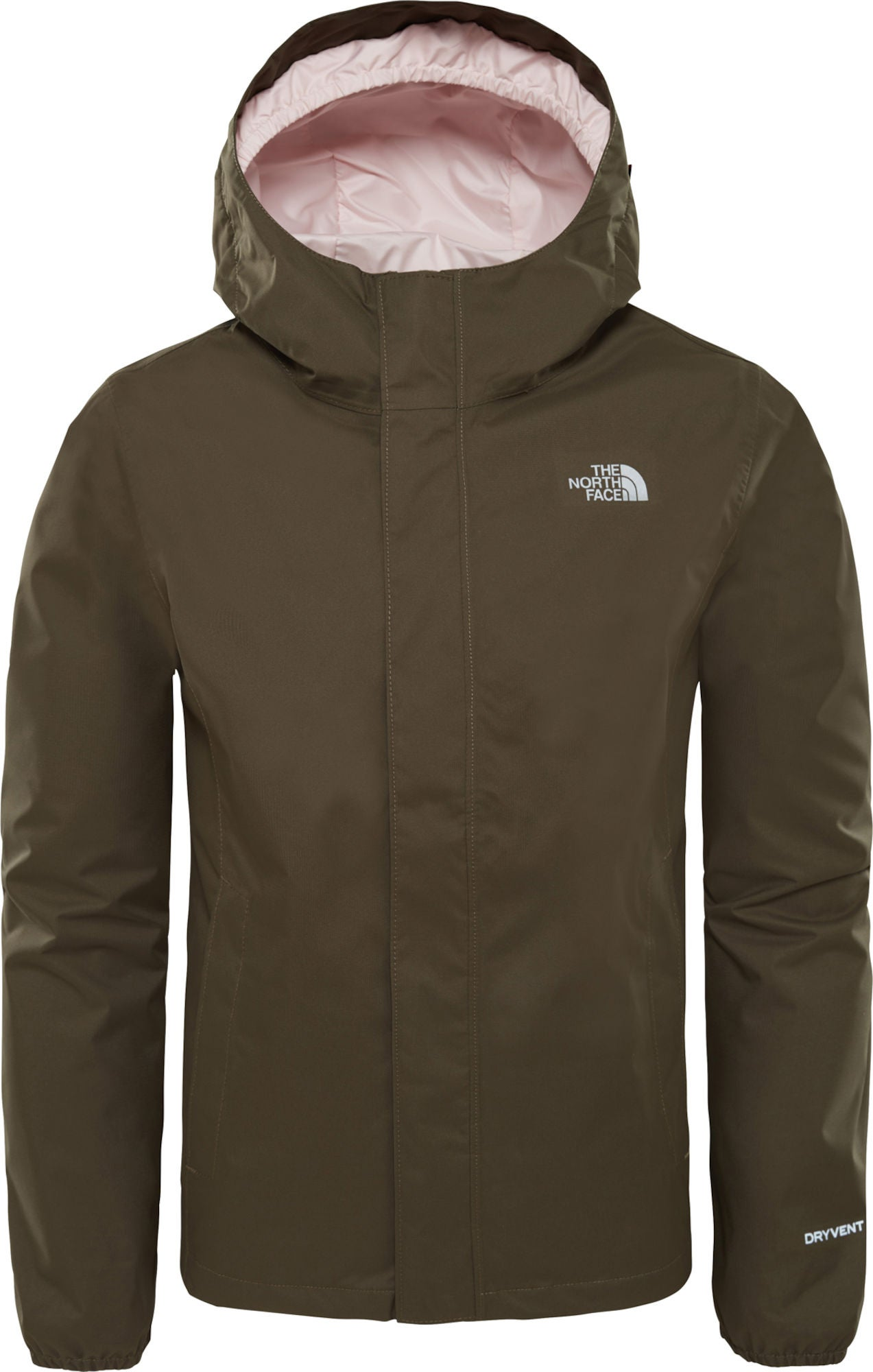 The North Face Resolve Reflective Jacka Barn, New Taupe Green S