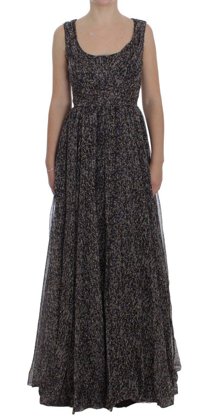 Dolce & Gabbana Women's Silk Shift Gown Dress Multicolor NOC10154 - IT40 S