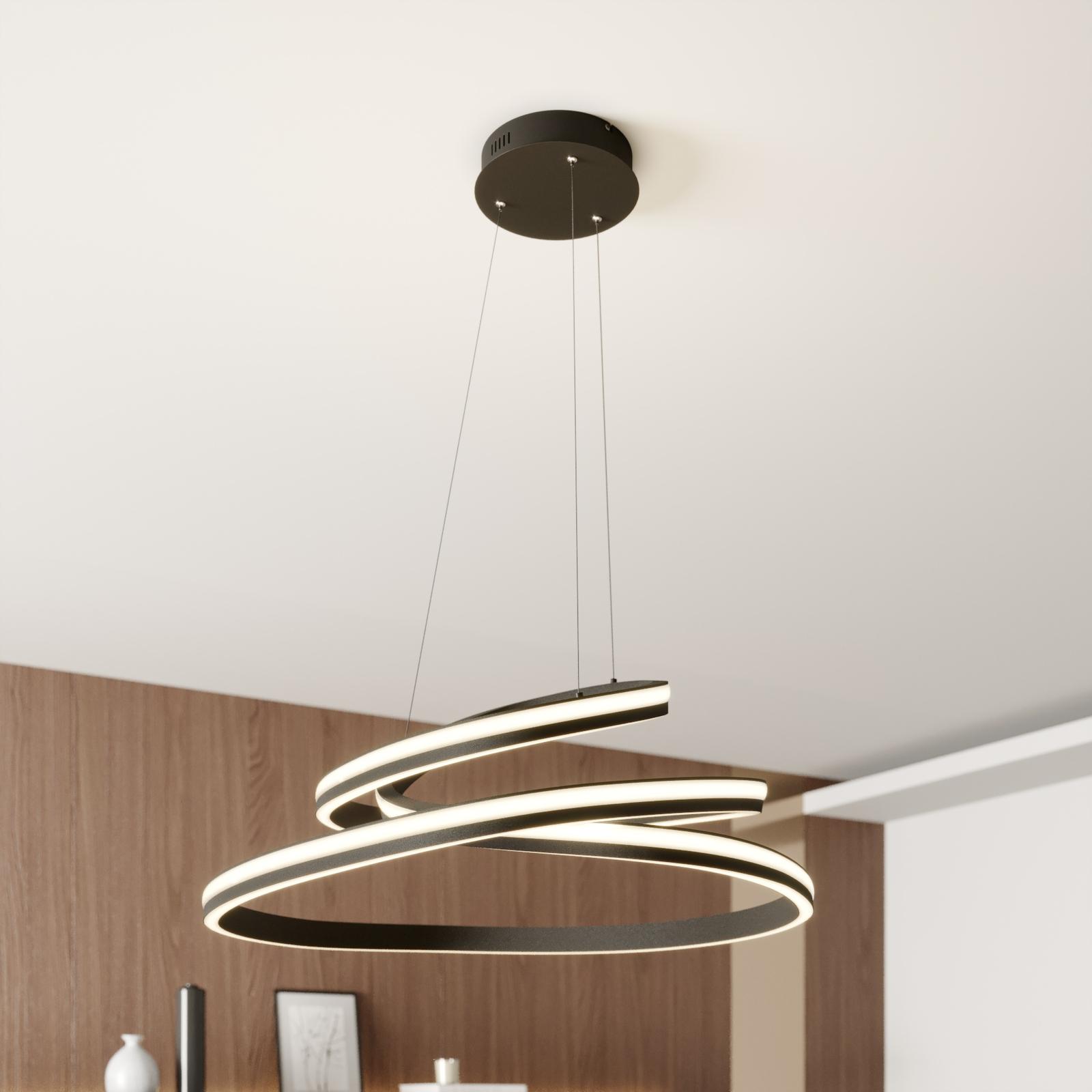 Lucande Emlyn -LED-riippuvalaisin, 80 cm