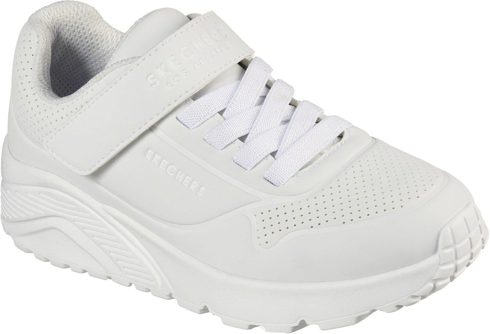 Skechers Kid's Uno Lite Vendox School Trainer Various Colours 32518 - White Synthetic & Trim 12.5