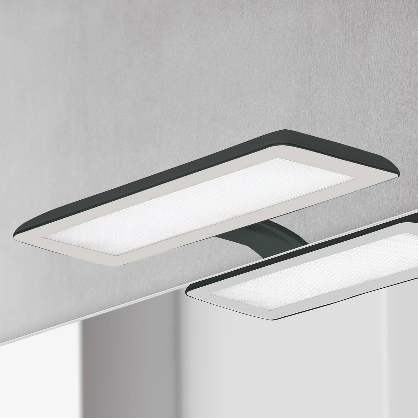 Nikita-LED-peilivalaisin, musta/teräksenharmaa