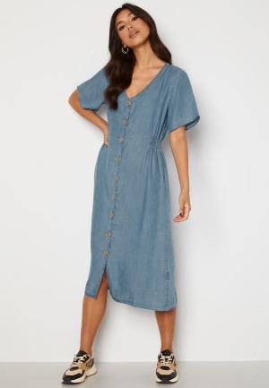 ONLY Nikoline Smock Denim Dress Medium Blue Denim S