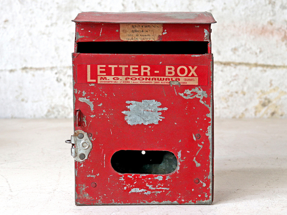 Original Old Letterbox Red