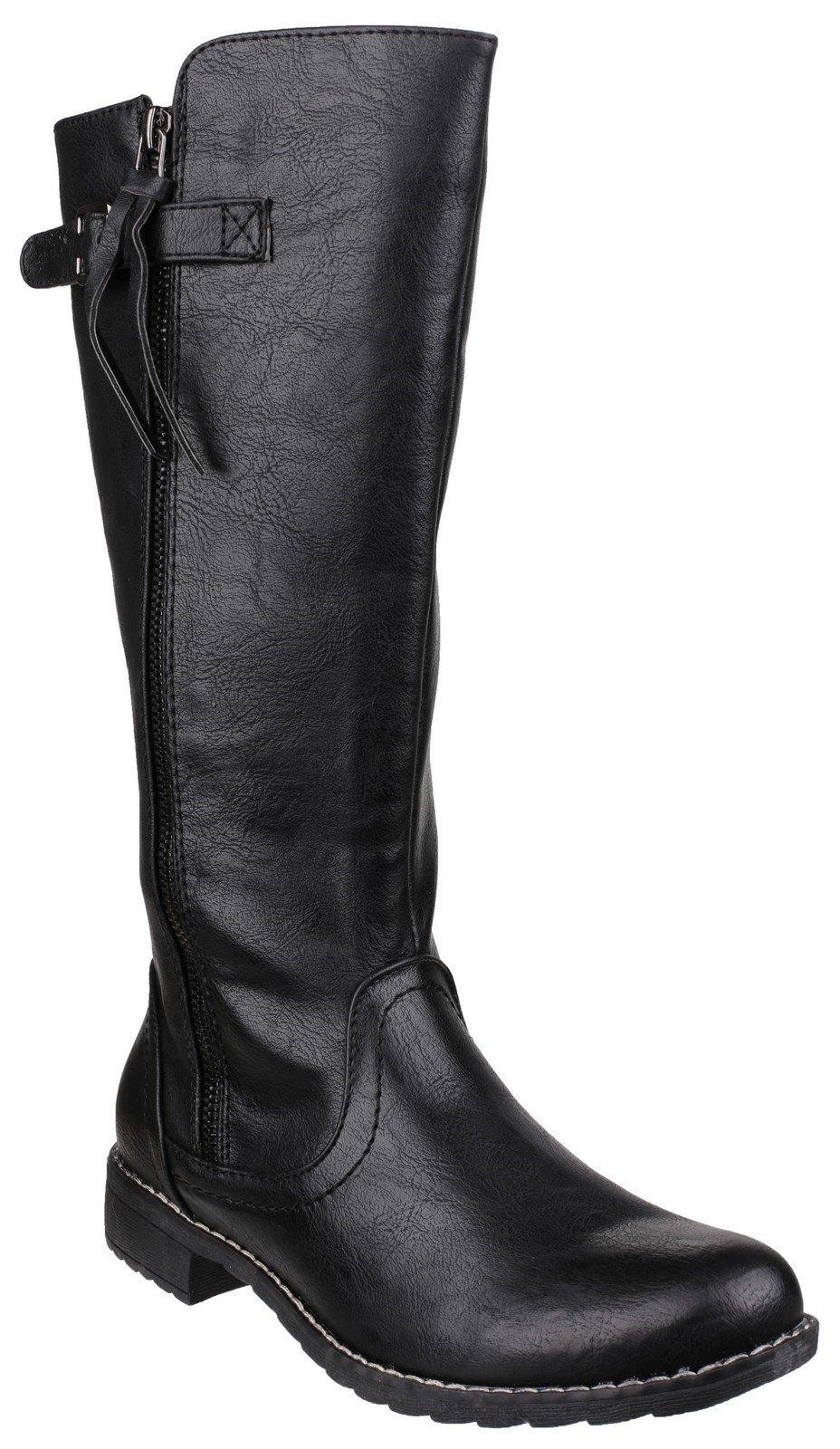 Divaz Women's Bari Zip Up Boot Black 22809-37237 - Black 3