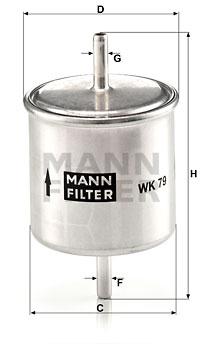 Polttoainesuodatin MANN-FILTER WK 79