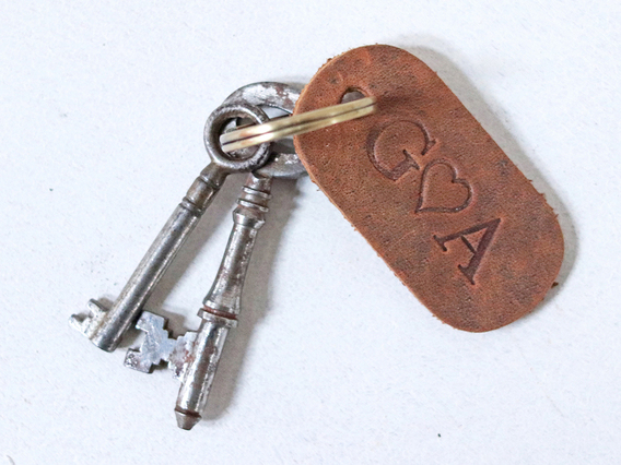 Small Leather Keyring