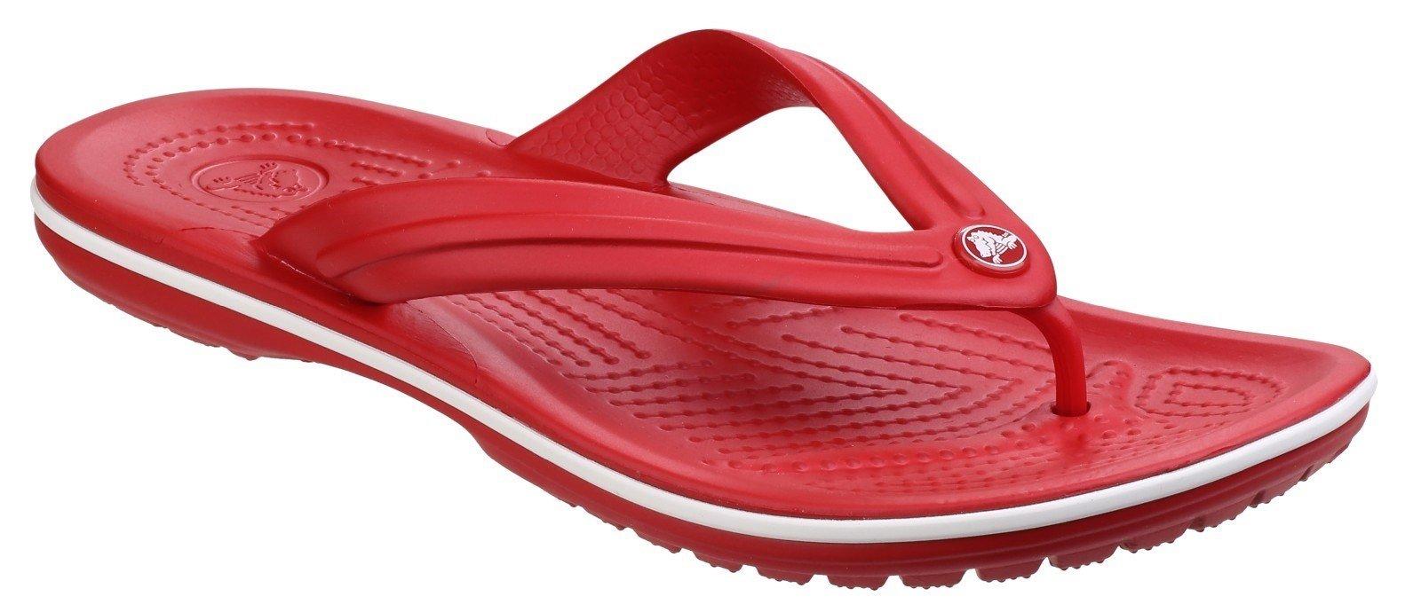 Crocs Women's Crocband Flip Sandal Various Colours 21065 - Pepper/White 3