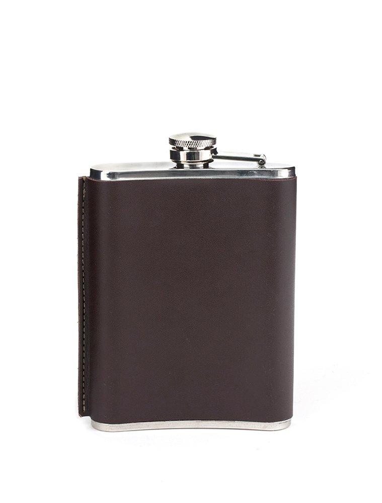 Leather Hip Flask 230ml (BA61-L)