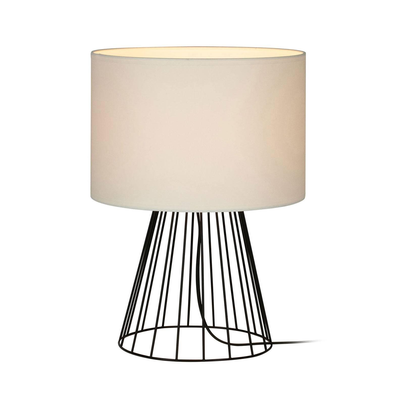 Bordlampe Valene med tekstilskjerm, høyde 44 cm