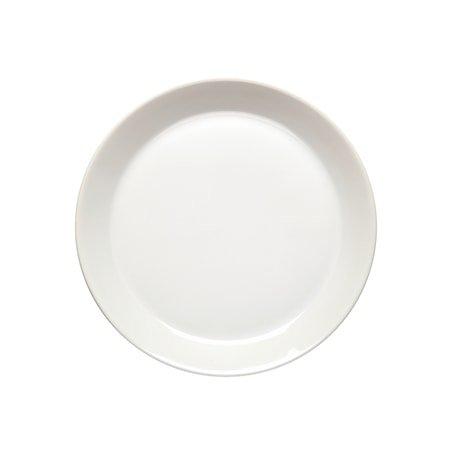HK Asjett 20 cm med kant hvit blank