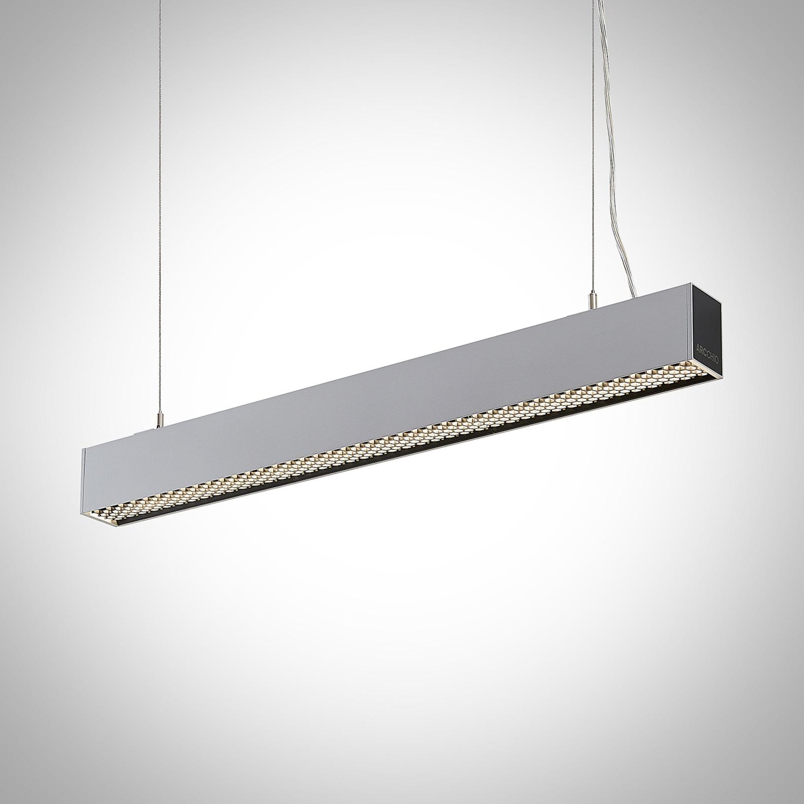Arcchio Thores LED-riippuvalaisin 85cm hopea