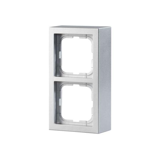 ABB Impressivo Forhøyningsramme aluminium 2 rom