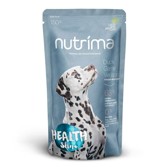 Nutrima Health Skin+ Anka, Vilt & Hjort 6 x 150 g