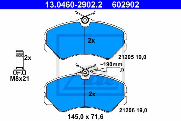 Jarrupalasarja, levyjarru ATE 13.0460-2902.2