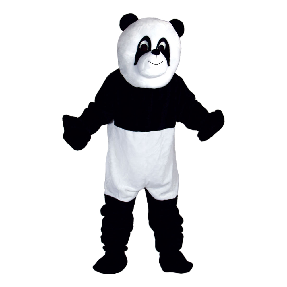 Pandamaskot Deluxe Maskeraddräkt - One size