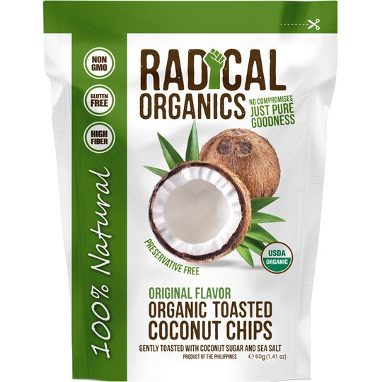 "Eko Kokoschips ""Coconut Sugar & Sea Salt"" 80g - 92% rabatt"