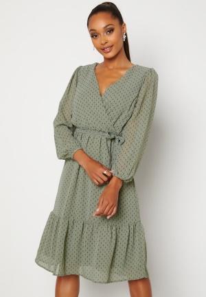 Happy Holly Linn midi Long Sleeve Dress Dusty green 52/54
