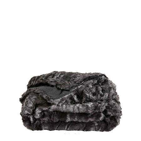 Leia Black Pläd 127x150