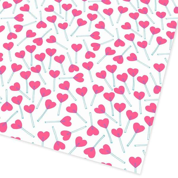 Love Heart Lollies Giftwrap