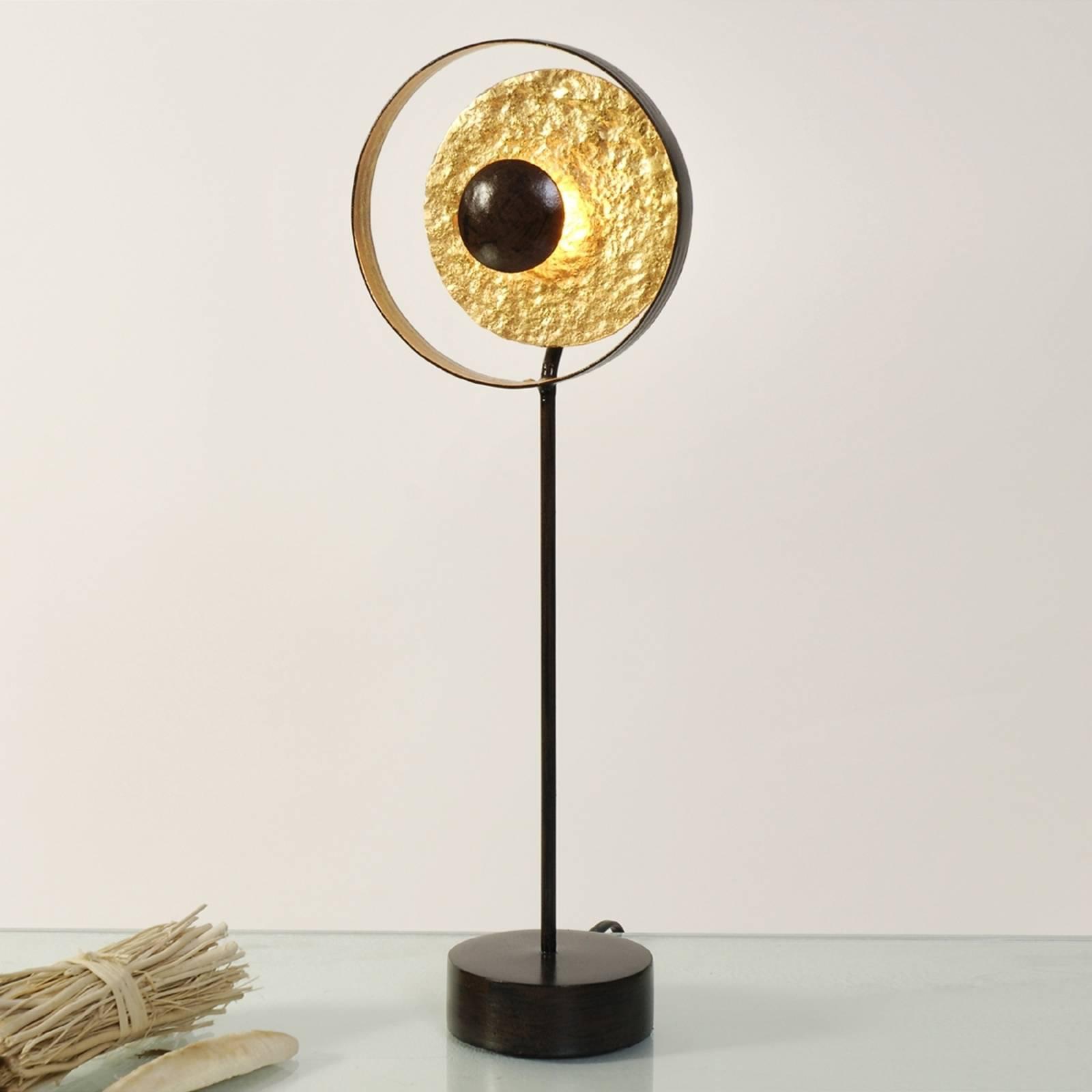 Gull brun Satellite bordlampe, 42 cm