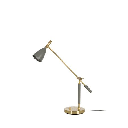 Frank 2.0 Bordlampe Varmgrå/messing LED Dimbar