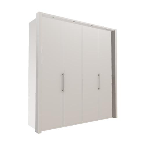 Garderobe Atlanta - Hvit 200 cm, 216 cm, Med ramme