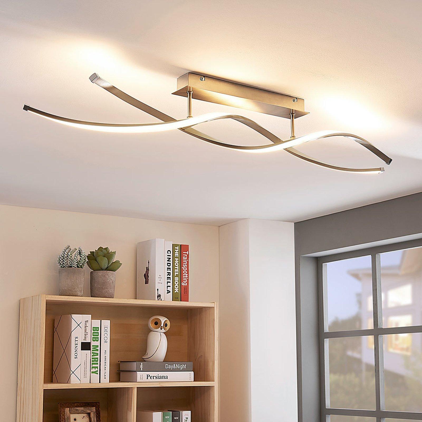 Spiralformet LED-taklampe Kati, dimbar