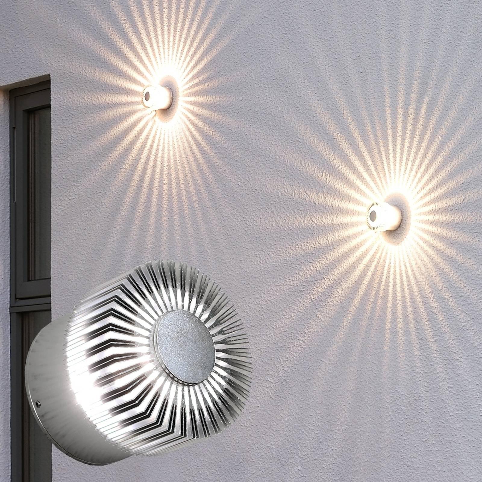 Flott utendørs Monza LED-vegglampe