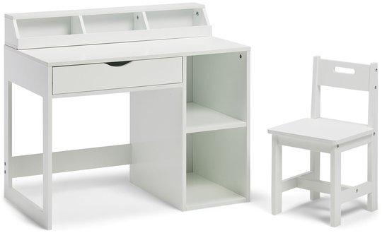 Alice & Fox Skrivebord Med Oppbevaring, Hvit