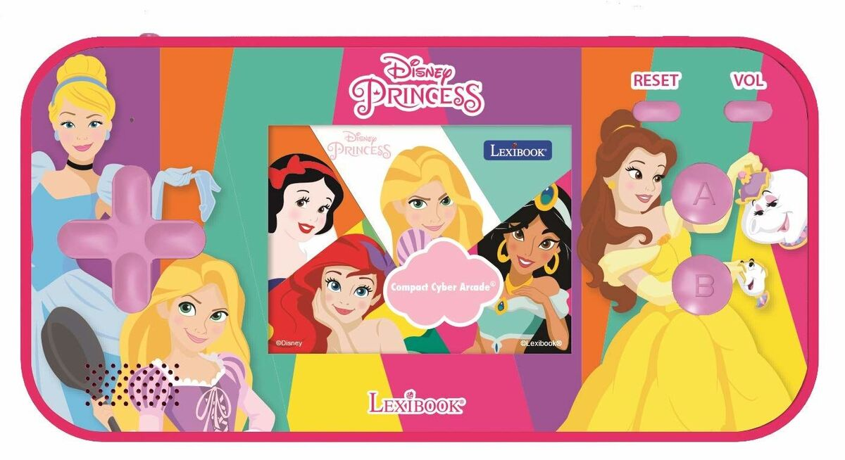 Lexibook - Handheld console Compact Cyber Arcade Disney Princess (JL2367DP)